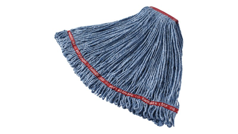 fgc11306bl00-rcp-cleaning-solutions-standard-wet-mop-swinger-loop-large-blue-finish-angle.tif