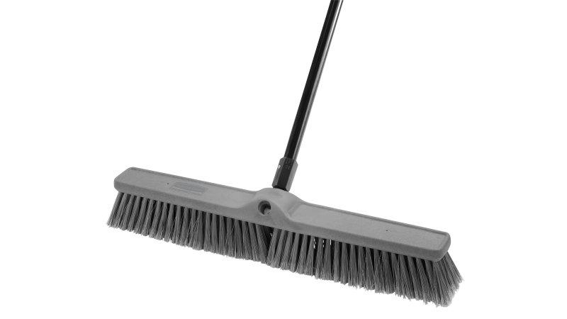 Fine Push Brooms Flagged Polypropylene Fill Rubbermaid