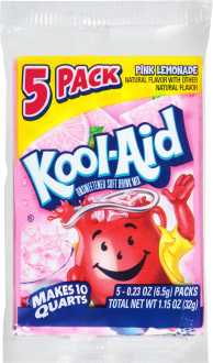 Kool-Aid(R) Pink Lemonade Unsweetened Soft Drink Mix 5-0.23 oz. Packets