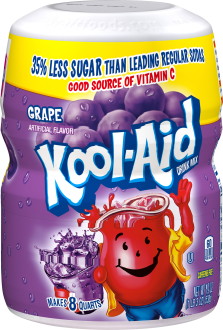 KOOL-AID Grape Drink Mix Sugar Sweetened 19 oz Canister