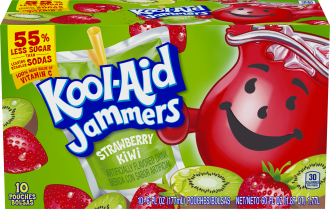 Kool-Aid Jammers Strawberry Kiwi Flavored Drink 60 fl oz Box (10-6 fl oz Pouches) image