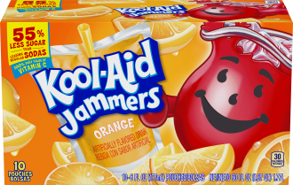 Kool-Aid Jammers Orange Flavored Drink 60 fl oz Box (10-6 fl oz Pouches) image