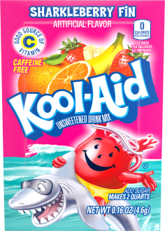 Kool-Aid Sharkleberry Fin Drink Mix 0.16 oz. Packet image