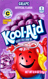 KOOL-AID Grape Drink Mix Unsweetened 0.14 oz Packet