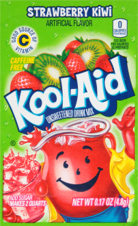 KOOL-AID Strawberry Kiwi Drink Mix Unsweetened  0.17 oz Packet image