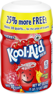 Kool-Aid Cherry Drink Mix 23.9 oz. Canister image