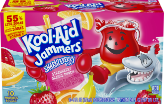 Kool-Aid Jammers Sharkleberry Fin Flavored Drink 60 fl oz Box (10-6 fl oz Pouches)