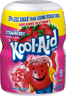 Kool-Aid Strawberry Drink Mix 19 oz. Canister