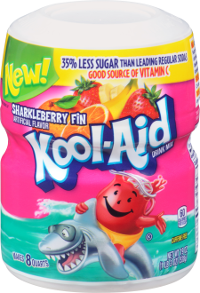 KOOL-AID Sharkleberry Fin Drink Mix Sugar Sweetened 19 oz Canister