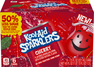 KOOL-AID 7.5 FO SPARKLERS READY TO DRINK SOFT DRINK CHERRY 4 BOX/CARTON INNER PACK