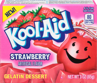 KOOL-AID GELATIN STRAWBERRY 3 OZ BOX
