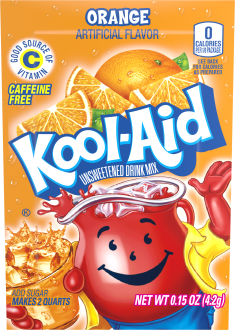 KOOL-AID Orange Drink Mix Unsweetened 0.15 oz Packet