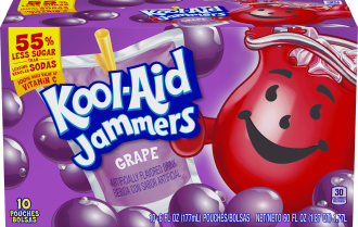 Kool-Aid Jammers Grape Flavored Drink 60 fl oz Box (10-6 fl oz Pouches) image