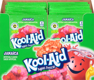 KOOL-AID Aguas Frescas Jamaica Drink Mix Unsweetened  0.14 oz Packet image