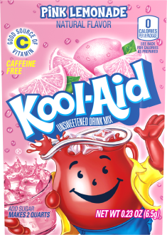 KOOL-AID Pink Lemonade Drink Mix Unsweetened  0.23 oz Packet image