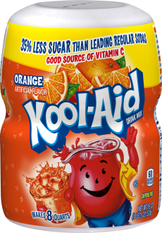 Kool-Aid Orange Drink Mix 19 oz. Canister image