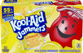 Kool-Aid Jammers Lemonade Flavored Drink 60 fl oz Box (10-6 fl oz Pouches)