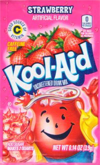 KOOL-AID Strawberry Drink Mix Unsweetened 0.14 oz Packet