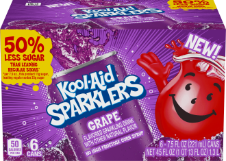 KOOL-AID 7.5 FO SPARKLERS READY TO DRINK SOFT DRINK GRAPE 4 BOX/CARTON INNER PACK image