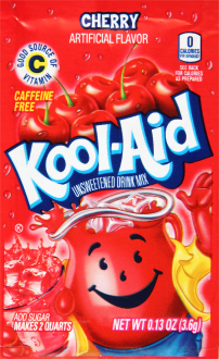 KOOL-AID Cherry Drink Mix Unsweetened 0.13 oz Packet