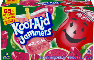 Kool-Aid Jammers Watermelon Flavored Drink 60 fl oz Box (10-6 fl oz Pouches) image