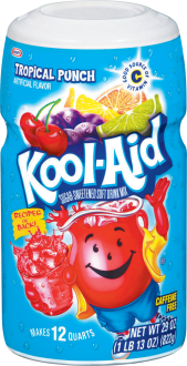 Kool-Aid Tropical Punch Sugar-Sweetened Caffeine Free Soft Drink Mix 29 Oz Canister