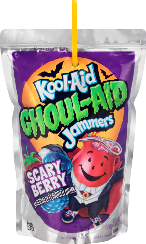 Kool-Aid Jammers Ghoul-Aid Scary Berry Flavored Drink 60 fl oz Box (10-6 fl oz Pouches)