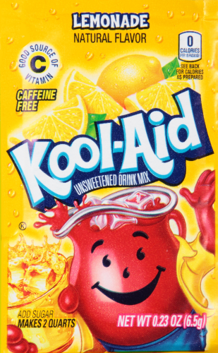 KOOL-AID Lemonade Drink Mix Unsweetened 0.23 oz Packet