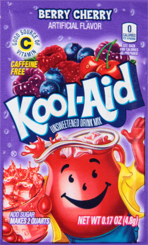 KOOL-AID Berry Cherry Drink Mix Unsweetened  0.17 oz Packet