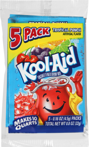 Kool-Aid(R) Tropical Punch Unsweetened Drink Mix 5-0.16 oz. Packets