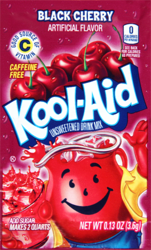 KOOL-AID Black Cherry Drink Mix Unsweetened 0.13 oz Packet