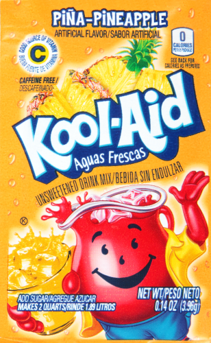 KOOL-AID Aguas Frescas Pineapple Drink Mix Unsweetened  0.14 oz Packet
