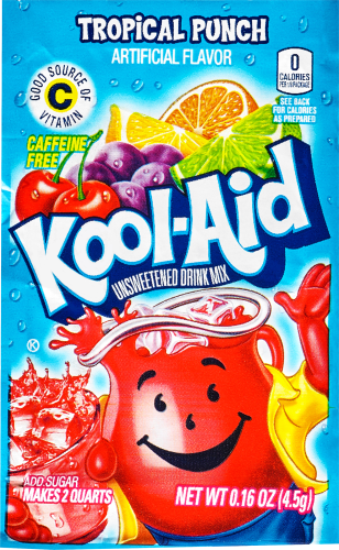 KOOL-AID Tropical Punch Drink Mix Unsweetened 0.16 oz Packet