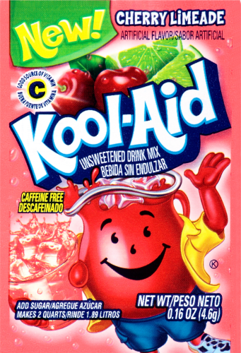 KOOL-AID Cherry Limeade Drink Mix Unsweetened 0.16 oz Packet