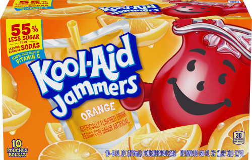 Kool-Aid Jammers Orange Flavored Drink 60 fl oz Box (10-6 fl oz Pouches)