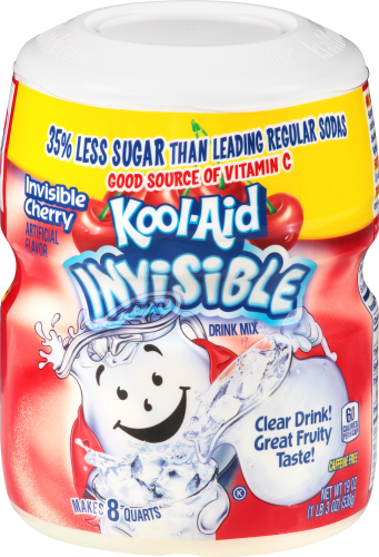 KOOL-AID Invisible Cherry  Drink Mix Sugar Sweetened 19 Oz Canister