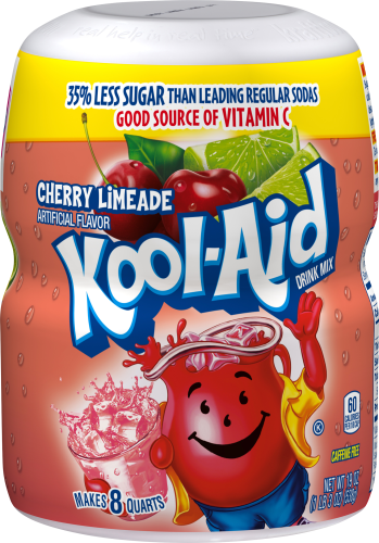 Kool-Aid Cherry Limeade Drink Mix 19 oz. Canister