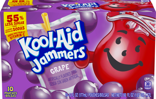 Kool-Aid Jammers Grape Flavored Drink 60 fl oz Box (10-6 fl oz Pouches)