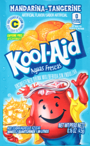 KOOL-AID Auusa Frescas Mandarina Drink Mix Unsweetened  0.16 oz Packet