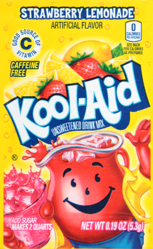 KOOL-AID Strawberry Lemonade Drink Mix Unsweetened  0.19 oz Packet