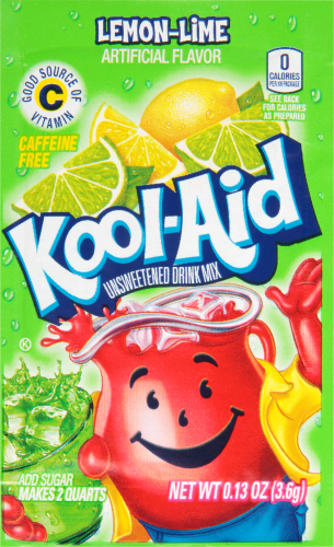 KOOL-AID Lemon-Lime Drink Mix Unsweetened 0.13 oz Packet