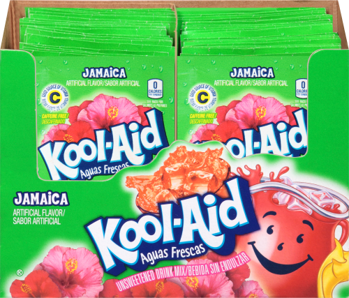 KOOL-AID Aguas Frescas Jamaica Drink Mix Unsweetened  0.14 oz Packet
