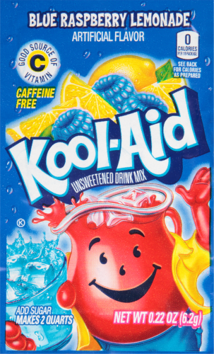 KOOL-AID Blue Raspberry Lemonade Drink Mix Unsweetened 0.22 oz Packet