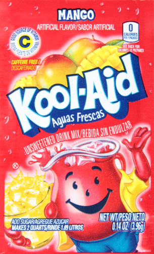KOOL-AID Aguas Frescas Mango Drink Mix Unsweetened  0.14 oz Packet