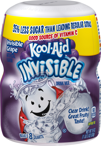 KOOL-AID Invisible Grape  Drink Mix Sugar Sweetened 19 Oz Canister