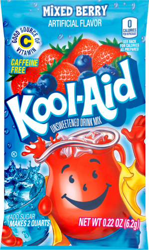 KOOL-AID Mixed Berry Drink Mix Unsweetened  0.22 oz Packet