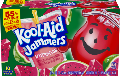 Kool-Aid Jammers Watermelon Flavored Drink 60 fl oz Box (10-6 fl oz Pouches)