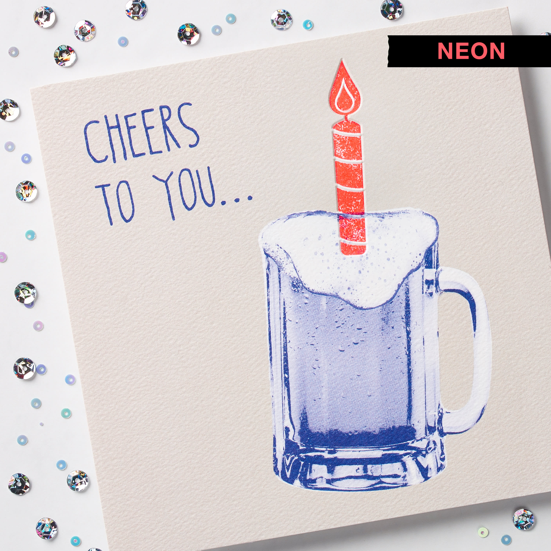 Cheers Birthday Card image