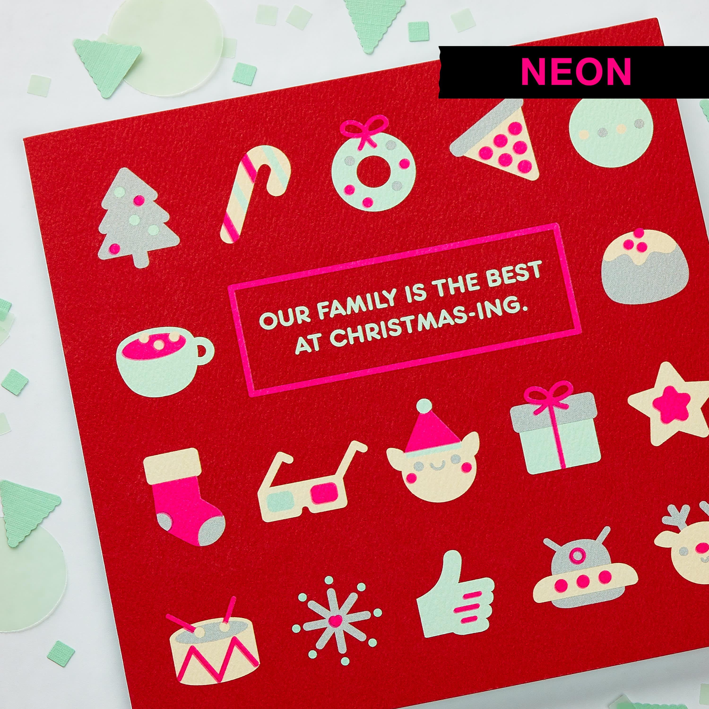 Christmas-ing Christmas Greeting Card for Family image