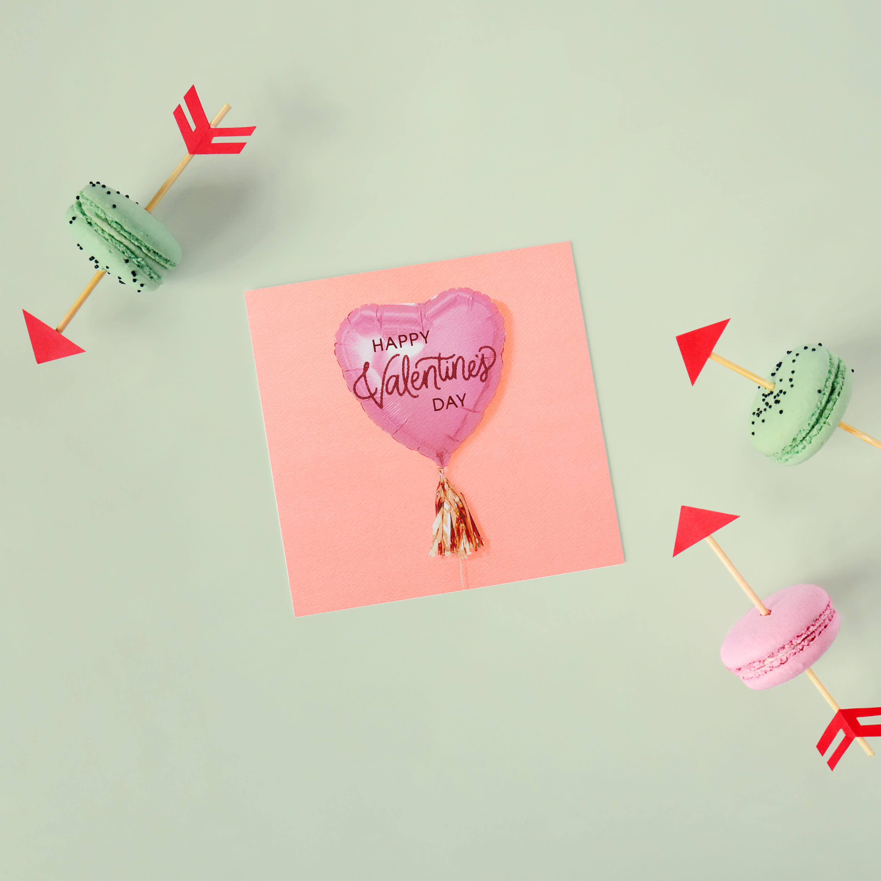 Balloon Valentine's Day Cards, 6-Count image